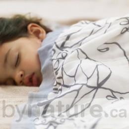 Aden & Anais Bamboo Muslin Dream Blanket, Moonlight (Leafy)