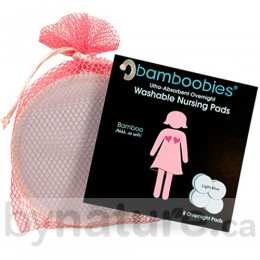 Bamboobies Reusable Overnight Breastfeeding Pads (4 Pair)