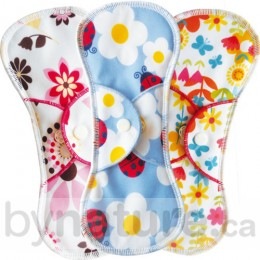 Bummis Fabulous Flo Regular Menstrual Pad - Bloom, Ladybug, Flower