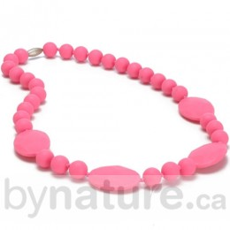 Chewbeads Perry Silicone Teething Necklace - Punchy Pink