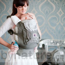 Ergo Baby Carrier, Galaxy Grey with Galaxy Grey Infant Insert (sold separately)
