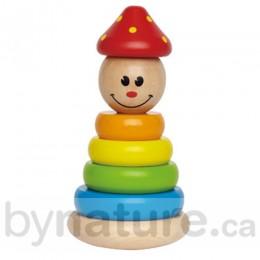 Clown Wooden Stacker Toy