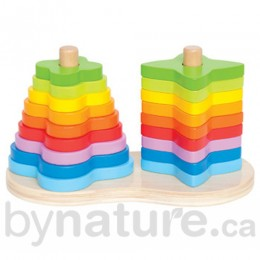 Double Rainbow Wooden Stacking Toy