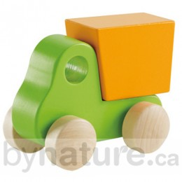 Little Dump Truck Wooden Toy Car