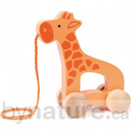 Wooden Push and Pull Giraffe