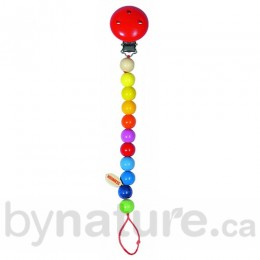 Heimess Beaded Pacifier Clip, Rainbow