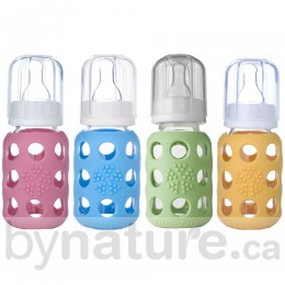 Lifefactory Glass Baby Bottles, 4oz.