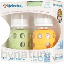 Lifefactory Glass Baby Bottle & Teether Gift Bundle