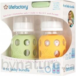 Lifefactory Glass Baby Bottle & Teether Gift Bundle