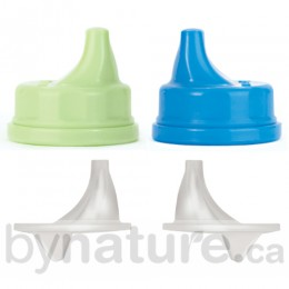Lifefactory Sippy Cap (2pk), Green/Blue