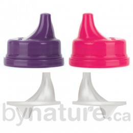 Lifefactory Sippy Caps (2pk), Raspberry/Purple