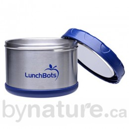 Lunchbots Insulated Food Container, Blue