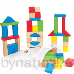 Coloured Maple Wooden Blocks