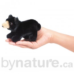 Mini Black Bear, Finger Puppet