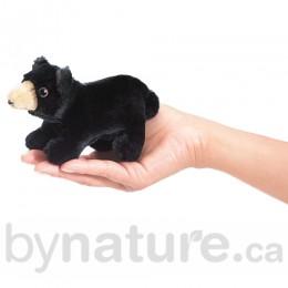 Mini Black Bear, Finger Puppet