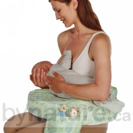 My Brest Friend Breastfeeding Pillow, Green Paisley (bottle & toy not included)