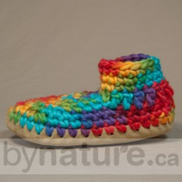 Padraig Wool Slippers, Youth - Rainbow