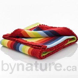 Pebble Handmade Crochet Edge Blanket, Rainbow