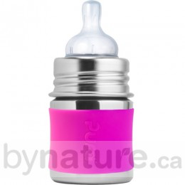 Pura Kiki Stainless Steel Baby Bottle, 5oz. - Pink