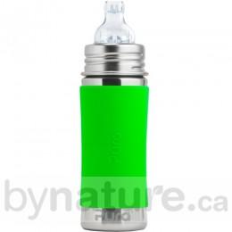 Pura Kiki Stainless Steel Sippy Bottle, 11oz. - Green