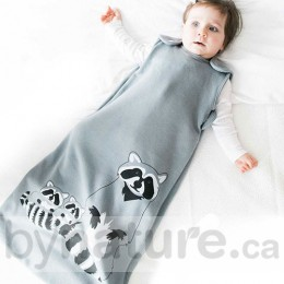 Wee Urban Baby Sleep Bag, Grey Raccoon