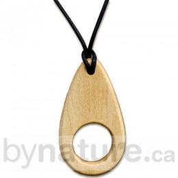 Wood Teething Necklace, Teardrop
