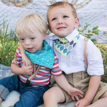 Acorn & Leaf Drool Bandana Bib
