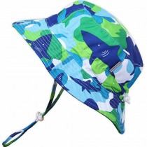 Grow-with-Me AquaDry Sun Hats, Blue Shark