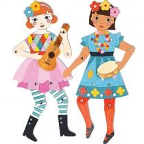 Articulated Paper Dolls, Rhythm & Melody