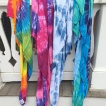 Austin Tie Dye Swaddle Blankets, Printed