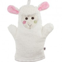 100% Cotton Baby Bath Mitt, Lola the Lamb
