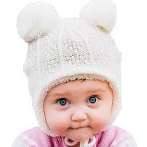Knit Winter Hat, Bear with Ears (3-9m)