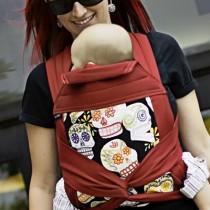 BabyHawk Mei Tai, Black Calaveras/Cherry