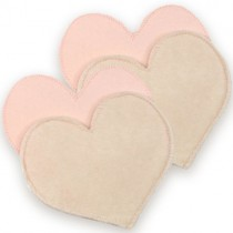 Bamboobies Waterproof Heart-Shaped Breastfeeding Pads (6 Pairs)