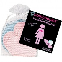 Bamboobies Reusable Breastfeeding Pads Complete Set (4 pair)