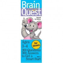Brain Quest Game Cards, For Threes (Ages 3-4)