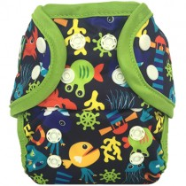 Swimmi One-Size Reusable Swim Diapers, Under the Sea Blue
