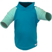Bummis UV-Tee with UPF 30, Aqua (Seaspray Sleeves)