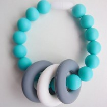 Changeable Chewables Silicone Teething Bracelet, Greyson