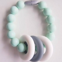 Changeable Chewables Silicone Teething Bracelet, Mint