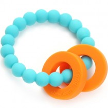Chewbeads Silicone Teether, Mulberry - Turquoise