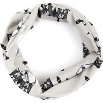 Adjustable Cotton Infiniti Scarf for Kids, Wolf