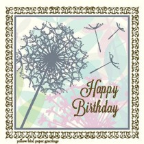 Dandelion Birthday Enclosure Card