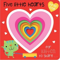 Five Little Hearts Pop Out and Play, Board Book