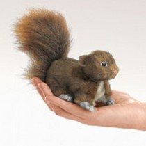Mini Red Squirrel, Finger Puppet
