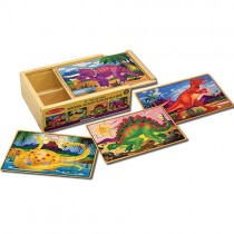 Set of 4 Puzzles in a Box, Dinosaur