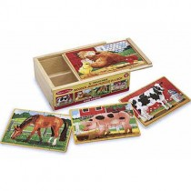 Set of 4 Puzzles in a Box, Farm
