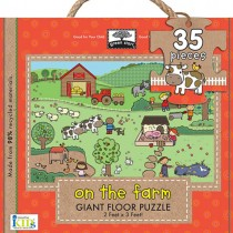 Giant Floor Puzzle, On The Farm (35pc)
