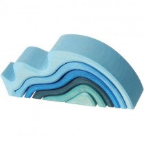 Grimm's Element Stacking Toy, Water Waves (Small)