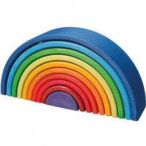 Grimm's Rainbow Wooden Stacking Toy, Sunset